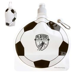 Soccer Theme Flat, Foldable Water Bag