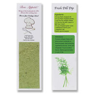 Recipe Bookmark with Herb-Seeded Plantable Paper