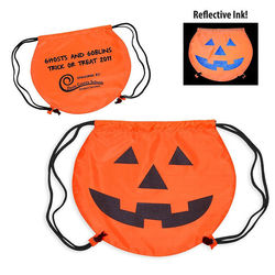 Pumpkin Drawstring Backpack