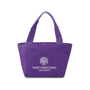 Colorful Eco-Friendly Lunch Cooler Tote Made from 50% Post-Consumer Recycled Materials