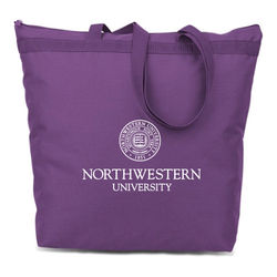 "16"" x 17.5"" Eco-Friendly Zippered Tote Bag Made from 50% Post-Consumer Recycled Materials"