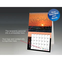 Desk Calendar Features Recipient Names Embedded in the Images