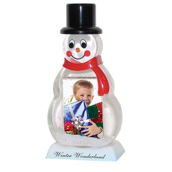 Snowman 'Insert Your Own Photo or Message'  Snow Globe