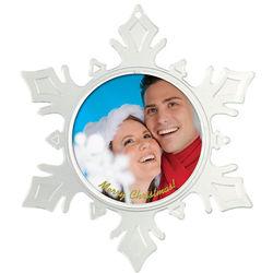 Snowflake Photo Frame Ornament