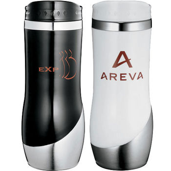 16 oz. Curved Stainless Steel Tumbler with Stainless Steel Liner