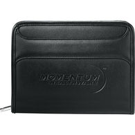 Junior-Size Burke Pebble-Grain Ultra-Hyde  Zippered Padfolio