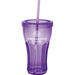 """Reusable """"Carry Out"""" Cup - 16 oz. Acrylic """"Fountain Soda"""" Tumbler with Screw-On Lid and Straw"""