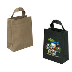 "Non-Woven ""Hang Around"" Tote Bag with Hanger Handle and Full-Color Printing"