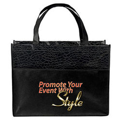 "16"" x 12"" Laminated Non-Woven Fashion Bag with Full-Color Printing"