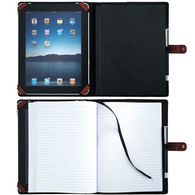 Junior-Size eTech JournalBook with Adjustable Brackets to Hold Tablets (Holds most 8.9