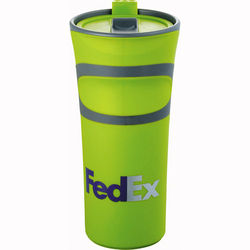 18 oz Groovy, Colorful Double Wall Tumbler with Plastic Liner