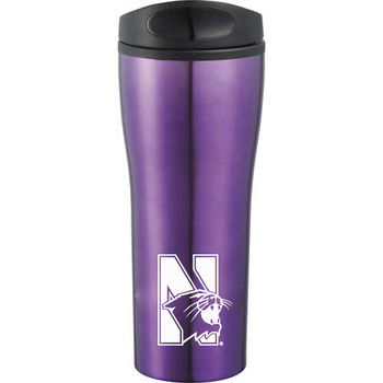 18 oz Stainless Steel Tumbler with Screw-On Lid and Plastic Liner
