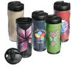 12 oz Travel Tumbler with Jute Fabric Insert