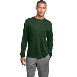 Men's 100% Polyester Moisture-Wicking Long-Sleeve T-Shirt (Good)