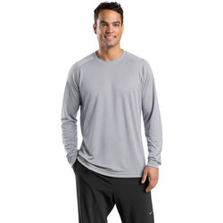 Men's 100% Polyester Mid-Grade Moisture-Wicking Long-Sleeve T-Shirt (Better)