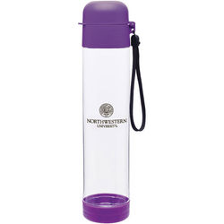 25 oz Dishwasher-Safe Water Bottle with Threaded Snap-Fit Lid and Carrying Strap