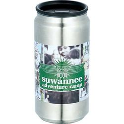 12 oz. Stainless Steel Tumbler with a Stainless Steel Liner Looks Like a Soda Can