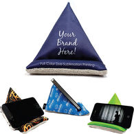 Executive Deluxe Microfiber Wedge with Full Color Printing - Holds Mobile Devices and Cleans Screens