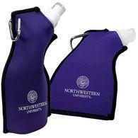 Flat, Flexible Neoprene Covered Water Bottle