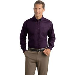 Men's Herringbone Non-Iron Button-Down Shirt (Best)