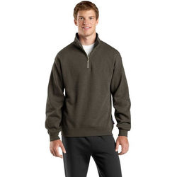 Men's Mid-weight Quarter Zip Sweatshirt with Collar - Expanded Colors
