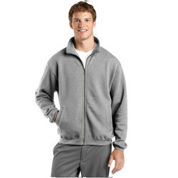 Adult Mid-weight Full-Zip Fleece Sweatshirt with Collar