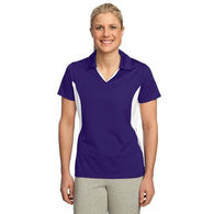 Ladies' Moisture-Wicking Polo with Side Blocks