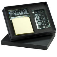 Glass Gift Set Includes Business Card and Message Pad Holders