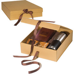 Godiva&reg Gift Set Includes Leather-Wrapped Tumbler, Hot Cocoa, and Biscuits
