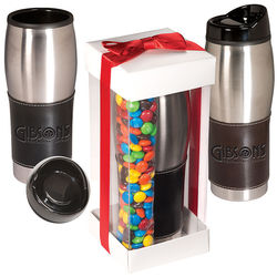 Leather-Wrapped Tumbler with M&M&regs Gift Set