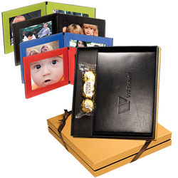 Ferrero Rocher&reg Chocolates & Cowhide Leather Frame Gift Set