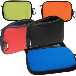 "Zippered Tablet Sleeve and Accessory Pouch - Neoprene - 5"" x 8"""