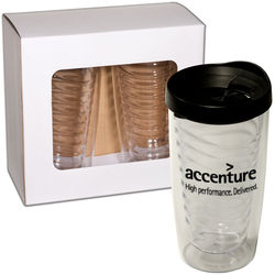 16 oz. Clear Double-Wall Acrylic Tumbler 2-Piece Gift Set