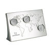 3-Zone Desk Clock with World Map