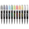 2-Tone Ballpoint Twist Pen with Black Barrel, Colored Top and Chrome Trim