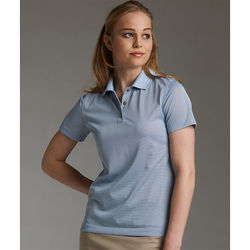 Ladies' Micro Striped Moisture-Wicking Polo