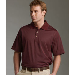 Men's Micro Striped Moisture-Wicking Polo