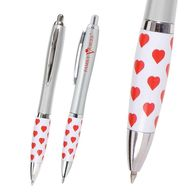 Basic Click Pen with Heart Theme Grip