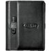 """5"""" x 8"""" Spiral Refillable Journal with Faux Leather Cover and Holder for a Flash Drive or Pen"""