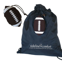 "15"" x 15"" Drawstring Tote Bag Folds Into Sports Ball Self-Pouch (Baseball, Basketball, Football, or Soccer)"