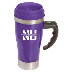 "14 oz. Acrylic/ Stainless Steel ""Stir"" Mug Mixes Coffee, Soup or Hot Chocolate with the Press of a Button"