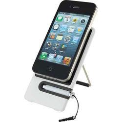 Plastic Desktop Smartphone Holder with Integrated Stylus
