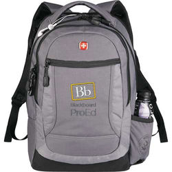 """Wenger&reg Swiss Army Compu-Backpack for 16"""" Laptops with Padded iPad/Tablet Compartment"""