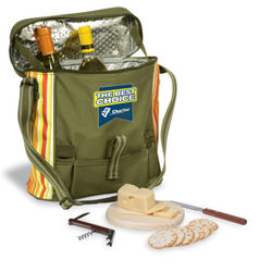 Picnic Cooler with Cutting Board, Knife and Bottle Opener