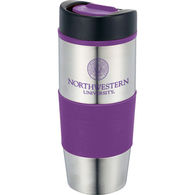 14 oz. Stainless Steel Travel Tumbler with Slide Lock Drink Opening and Plastic Liner
