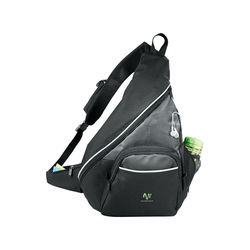 PolyCanvas Deluxe Sling Bag with Front Pocket