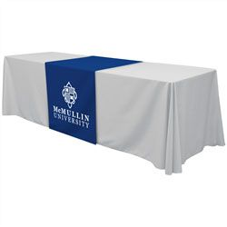 """Standard 28"""" Wide Table Runner with Full-Color Imprint on Front"""