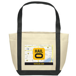 "12"" x 18"" Non-Woven Boat Tote with Color Trim and Full-Color Printing"