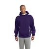 Adult Sleeve Stripe Fleece Pullover Hooded Sweatshirt