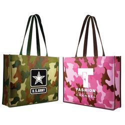 "15"" x 12"" Non-Woven Camouflage Tote bag"